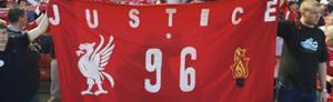Баннер «Justice 96» памяти жертв «Хиллсборо» (c) LiverpoolFC.tv