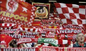 Болельщики «Ливерпуля» на Копе (c) Guardian