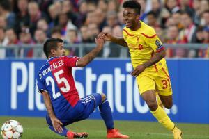 Рахим Стерлинг в матче против «Базеля» (c) Liverpool Echo