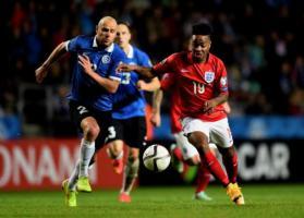 Рахим Стерлинг в матче против сборной Англии (c) TalkSport