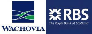 Логотипы банков Wachovia и RBS
