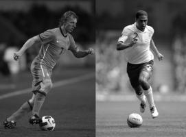 Дирк Кёйт и Глен Джонсон в матчах за национальные команды (с) zimbio.com