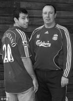 Хавьер Маскерано и Рафа Бенитес (c) Daily Mail