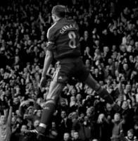 Стивен Джеррард празднует гол в ворота «Блэкбёрна» (c) LiverpoolFC.tv
