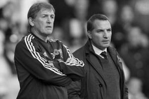 Кенни Далглиш и Брендан Роджерс (c) LiverpoolFC.tv