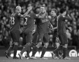 Даниэль Аггер празднует гол «Саутгемптону» (c) LiverpoolFC.com