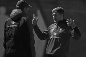 Юрген Клопп и Стивен Джеррард (c) John Powell / Liverpool FC