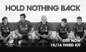 Третья форма «Ливерпуля» сезона 2015/2016 (c) LiverpoolFC.com