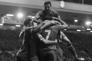 Футболисты «Ливерпуля» в матче с «Норвичем»