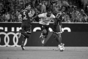 Дэниел Старридж в матче с Баварией