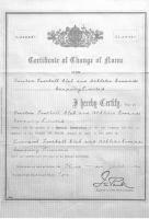 Сертификат о смене имени