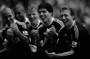 Празднование гола в матче с Сандерлендом (с) zimbio.com