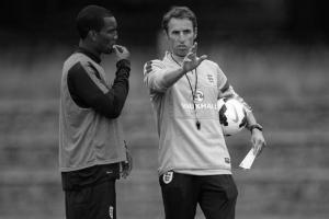 Андре Уиздом и Гарет Саутгейт (c) The FA