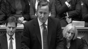 Дэвид Кэмерон выступает в Палате Общин (с) itv.com