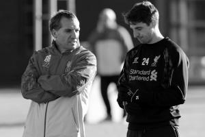 Брендан Роджерс и Джо Аллен (c) Liverpool Echo