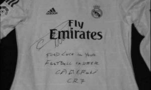 Футболка Криштиану Роналду с автографом для Брэнагана