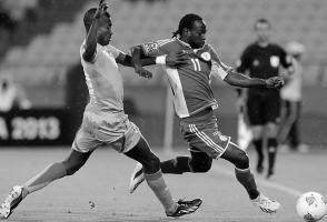 Виктор Мозес в сборной Нигерии (c) Armando France / AFP